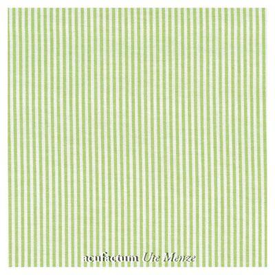 BW-Stoff grün-weiß gestreift