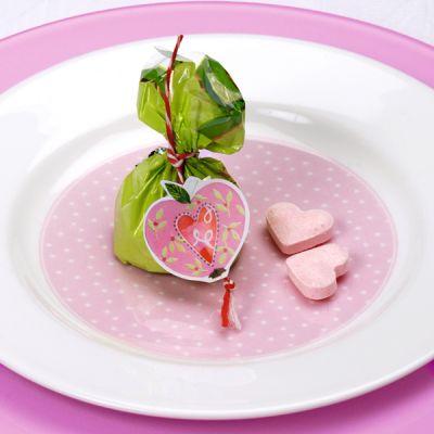 Teller rosa Pünktchen 16 cm