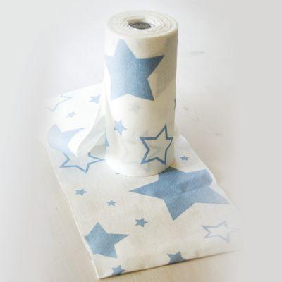 Sterne 20 cm breit hellblau