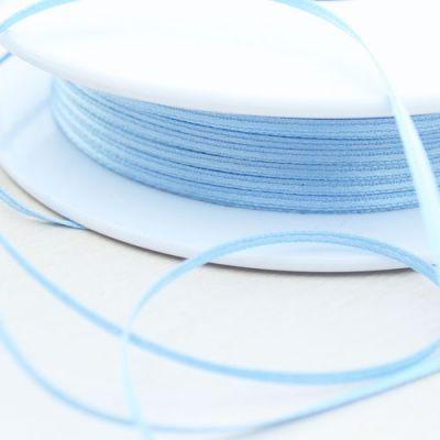 Satinband doppelseitig hellblau 1,5 mm breit