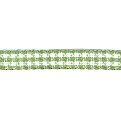 Karo-Band Mini -Vichy grün/weiß