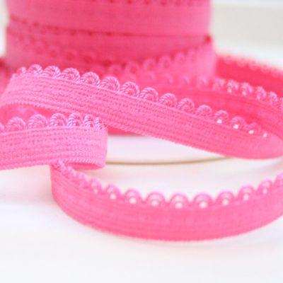 Webband Darling pink elastisch 9 mm breit