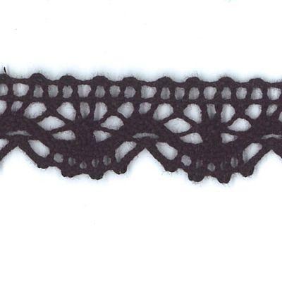 Spitzenborte Maia schwarz 13 mm breit