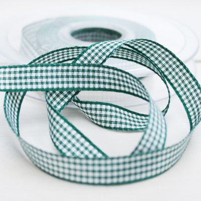 Karo-Band Mini -Vichy grün-weiß 10mm
