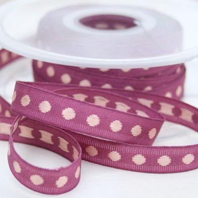 Webband Rythme lila-lachs 10 mm breit