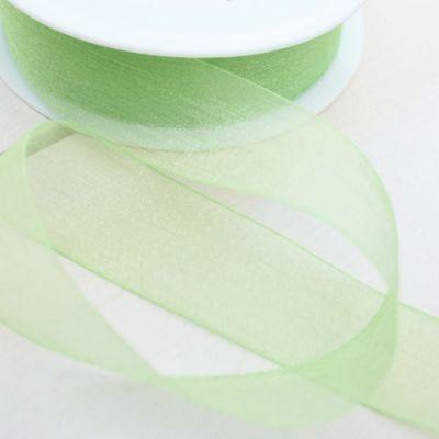 Organzaband Charme  grün 25 mm breit