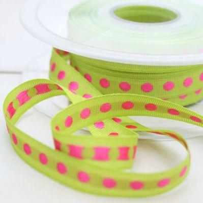 Webband Rythme neongrün-pink 10 mm breit
