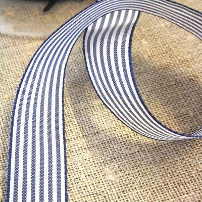 Webband Streifen blau-weiß 15mm