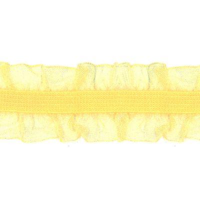Rüschenband Frivole gelb elastisch 15 mm breit