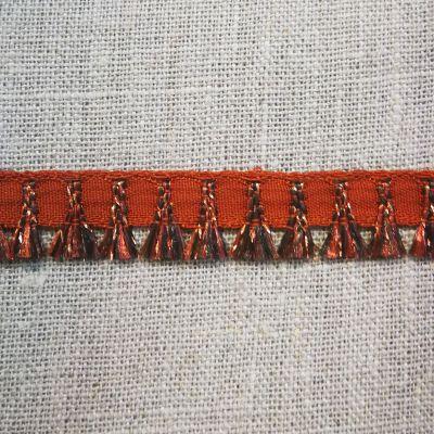 Quastenband Houppette dunkelbraun 12 mm breit