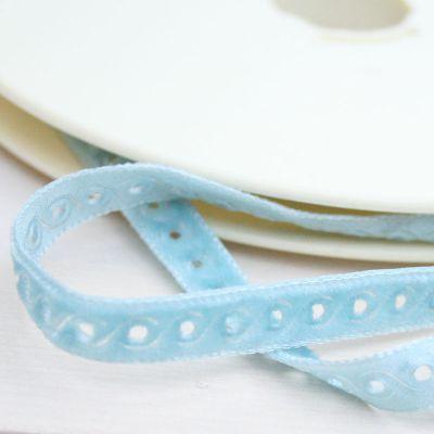 Samtband hellblau hellblau 9 mm breit