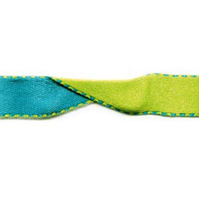 Satinband Surprise türkis-grün 10 mm breit