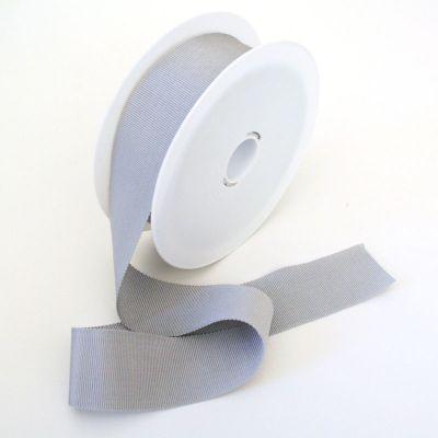 Ripsband Dolce grau 40 mm breit