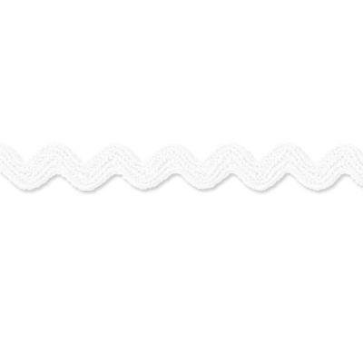 Zackenlitze, Baumwolle weiß 14 mm