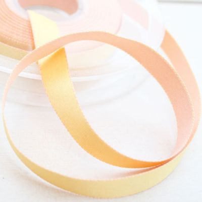 Satinband Surprise gelb-apricot 10 mm breit