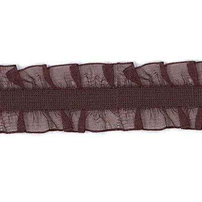 Rüschenband Frivole dunkel-braun elastisch 15 mm breit