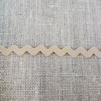 Zackenlitze natur 6 mm breit
