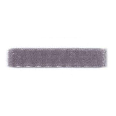 Samtband grau elastisch 7 mm breit