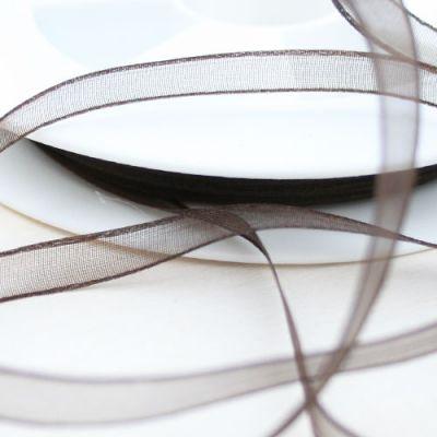 Organzaband Charme  braun 6 mm breit