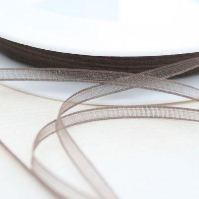 Organzaband dunkelbraun 3 mm breit