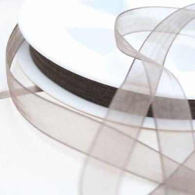 Organzaband Charme dunkelbraun 10 mm breit