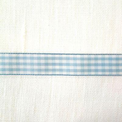 Karo-Band Vichy hellblau kariert 15 mm breit
