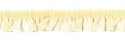Rüschenband creme elastisch 16 mm breit