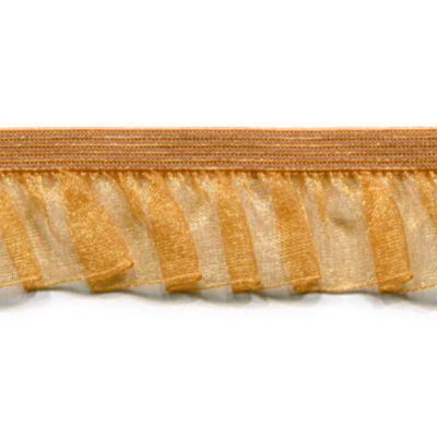 RüschenbandOrganza  gold elastisch 19 mm breit