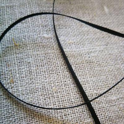 Satinband doppelseitig schwarz 1,5 mm