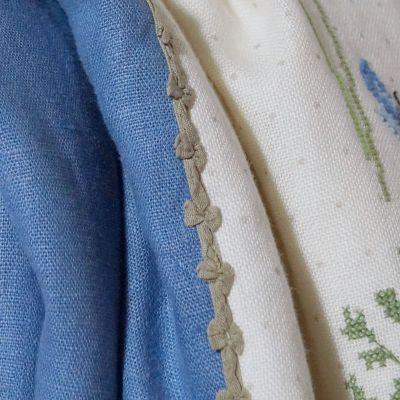 Borte mit Schleifen Promesse  grünbraun 9 mm breit