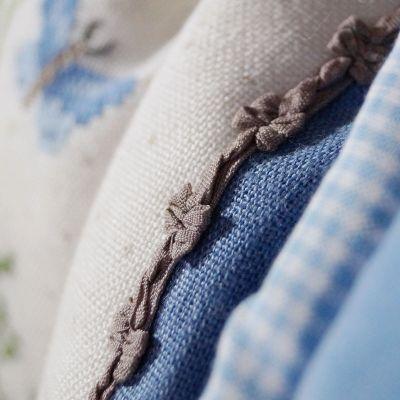 Borte mit Schleifen Promesse graubraun 9 mm breit