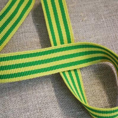 Ripsband gestreift hellgrün-grün 15 mm breit