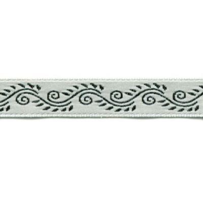 Webband Marrakech weiß-schwarz 10mm