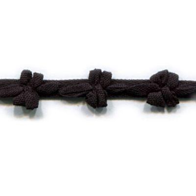 Borte mit Schleifen Promesse schwarz 9 mm breit