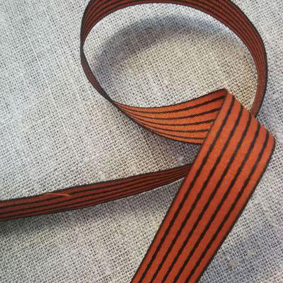 Webband Carbo rost,schwarz gestreift 15mm