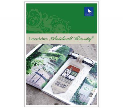 Stickpackung Lesezeichen Nadelmarkt Barendorf