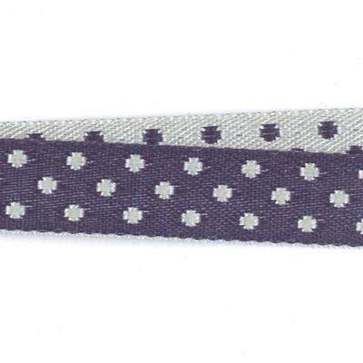 Borte Eloise dunkelblau-weiß 10 mm breit