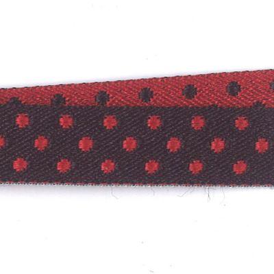 Borte Eloise schwarz-rot 10 mm breit