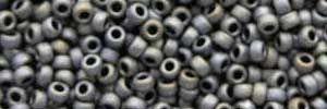 Mini-Perlen matt dunkelgrau