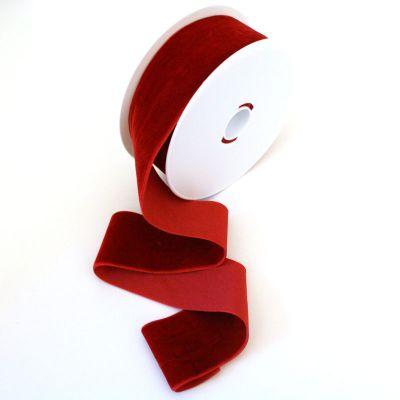 Samtband rot 50 mm breit
