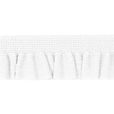 Rüschenband Emma weiß elastisch 11 mm breit