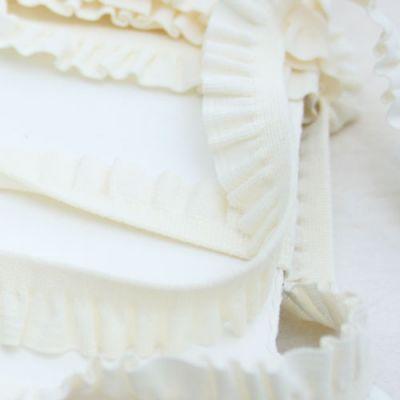 Rüschenband Emma creme elastisch 11 mm breit