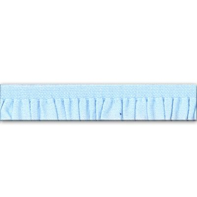 Rüschenband Emma hellblau 11 mm breit