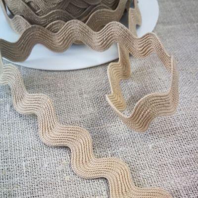 Zackenlitze natur 20 mm breit