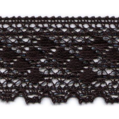 Klöppelspitze Paula dunkelbraun 50 mm breit