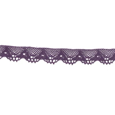 Klöppelspitze dunkellila 18 mm breit