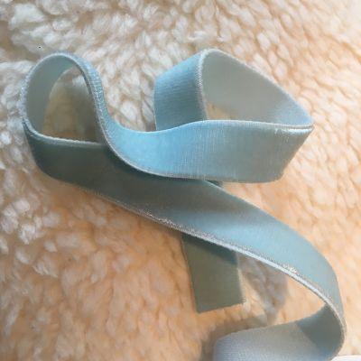 Samtband hellblau elastisch 16 mm breit