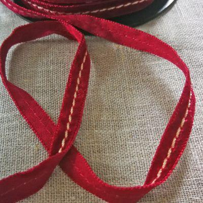 Samtband Cavalier weinrot 9 mm breit