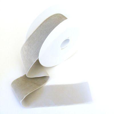 Samtband hellgrau 50 mm breit