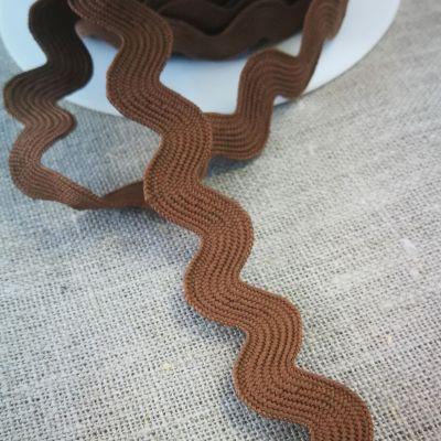 Zackenlitze braun 20 mm breit